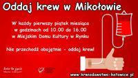 Oddaj krew w Mikołowie.