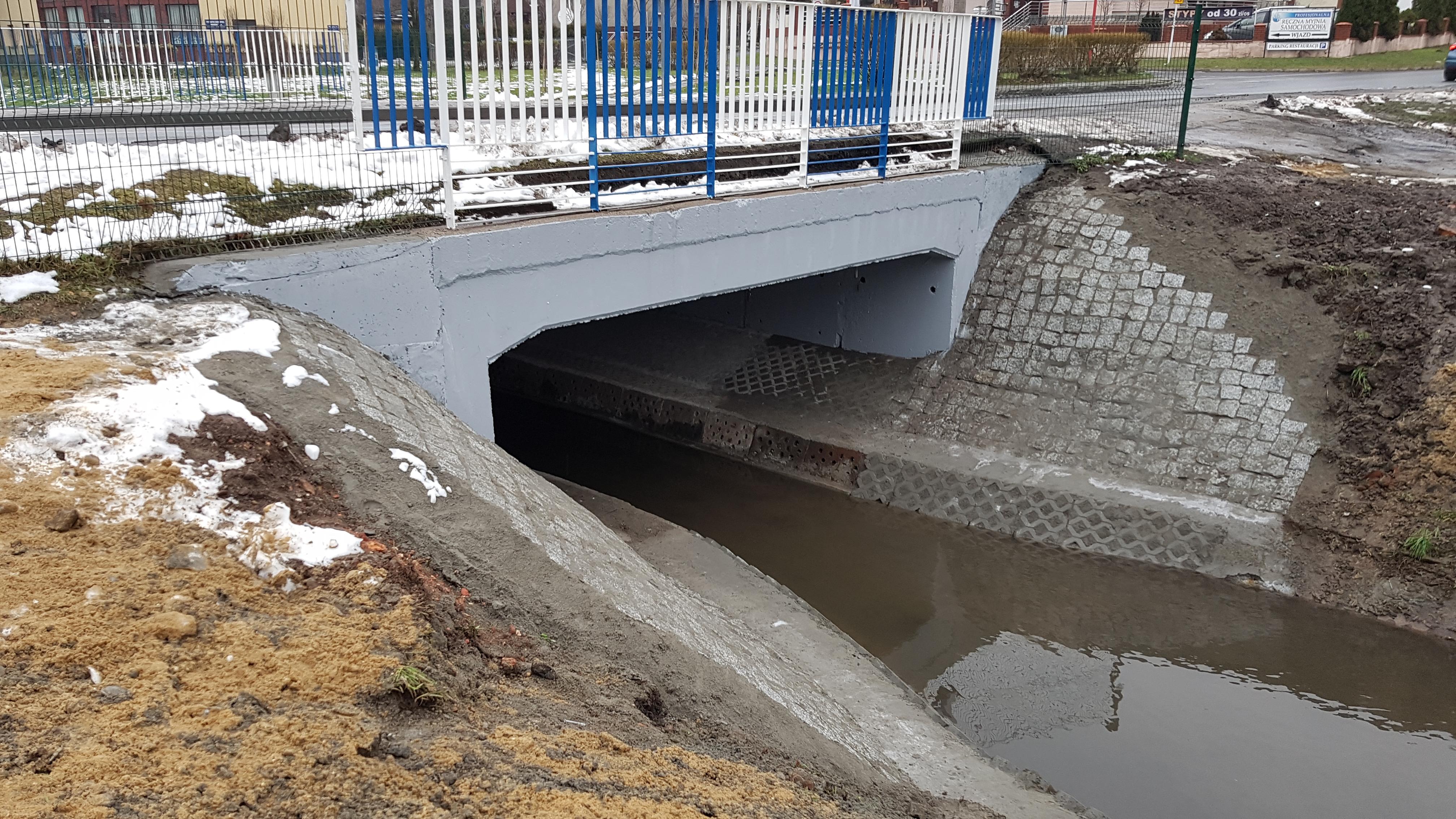 Remont bieżący przepustu ramowego na Potoku Jamna w ciągu ulicy Musioław Mikołowie  wraz z wykonaniem ekspertyzy płyty dennej i fundamentów oraz koryta cieku.