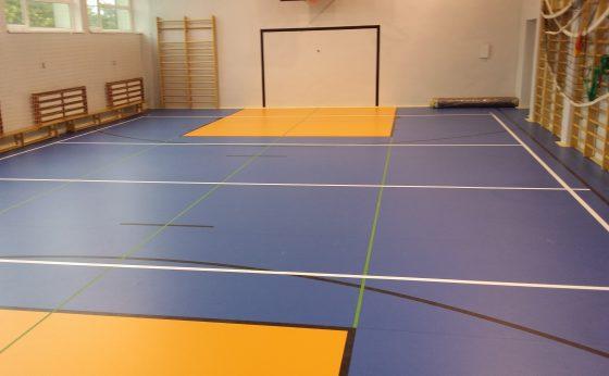 Modernizacja posadzki sali gimnastycznej wraz z zapleczem pomieszczeń przy sali gimnastycznej SP-7