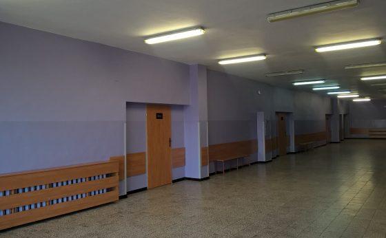 Modernizacja korytarzy i sali w seg D wraz z modernizacją łazienki, korytarza oraz biblioteki w seg B w budynku G-2