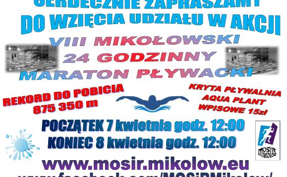 VIII Mikołowski 24 godzinny maraton pływacki
