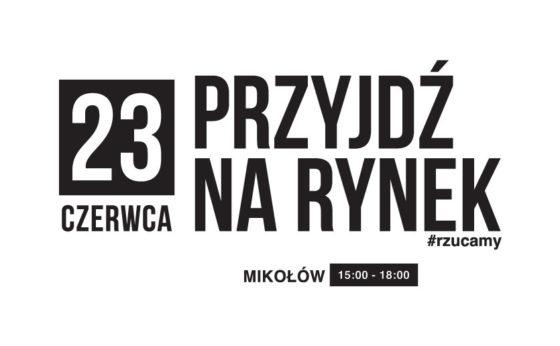 WIELKI FINAŁ NA RYNKU 23 CZERWCA / GODZINA 15:00-18:00 EVENT: #rzucamy!