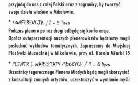 """Rozpoczęcie XXVIII Pleneru Malarskiego """"Impresje Mikołowskie"""""""