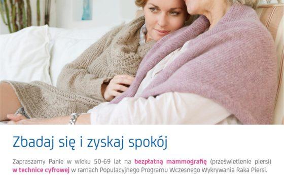 Bezpłatne badanie mammograficzne w Mikołowie