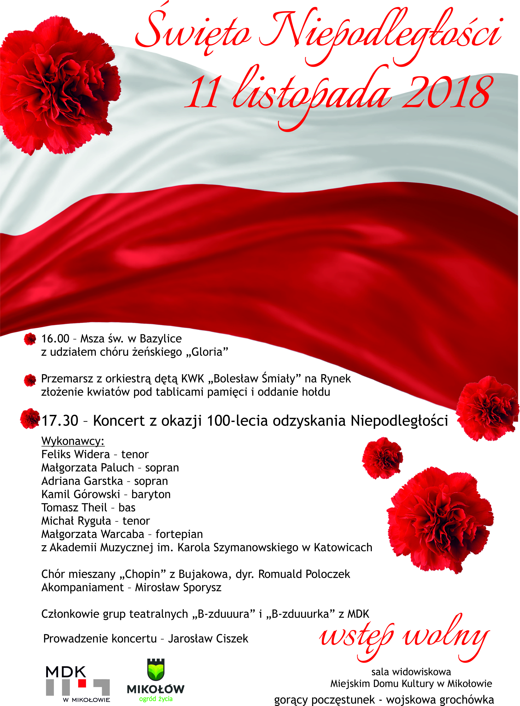Obchody Święta Niepodległości w Mikołowie