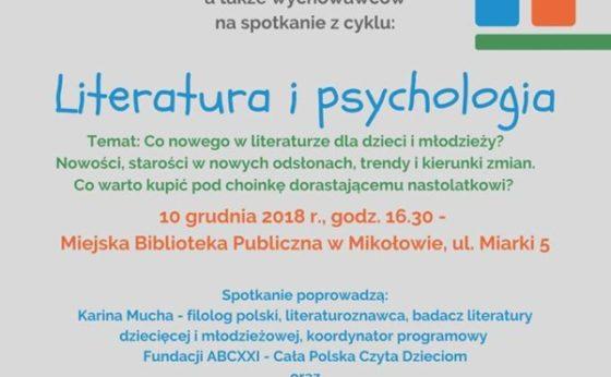 """Literatura i psychologia: """"Co nowego w literaturze dla dzieci i młodzieży?"""