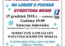 VIII Turniej mini - hokeja na lodzie o Puchar Dyrektora MOSiR