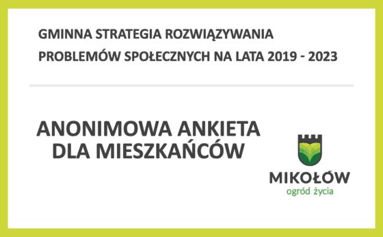 Gminna Strategia Rozwiązywania Problemów Społecznych  2019-2023