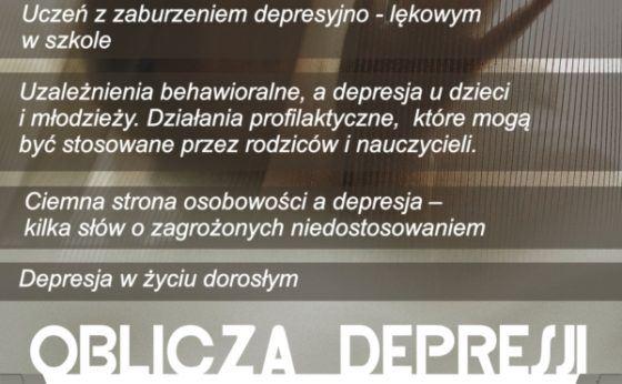 Oblicza depresji u dzieci i młodzieży – konferencja