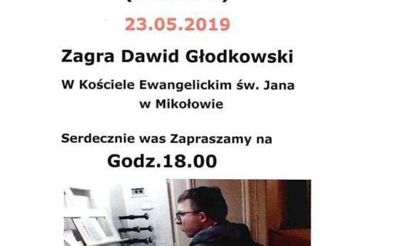 Koncert organowy Dawida Głodkowskiego