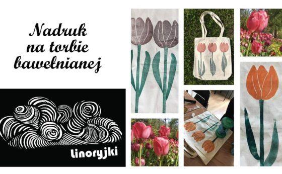 Warsztat Linoryjki: linoryt na tkaninie