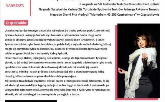 Kalina – monodram w MDK Mikołów