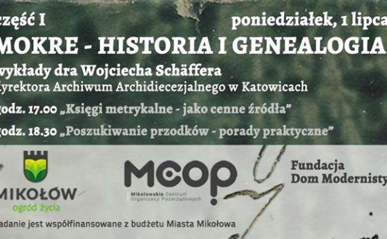 """Mokre – Historia i Genealogia prelekcja A.Mieńko – """"Pochodzimy z Mokrego"""""""