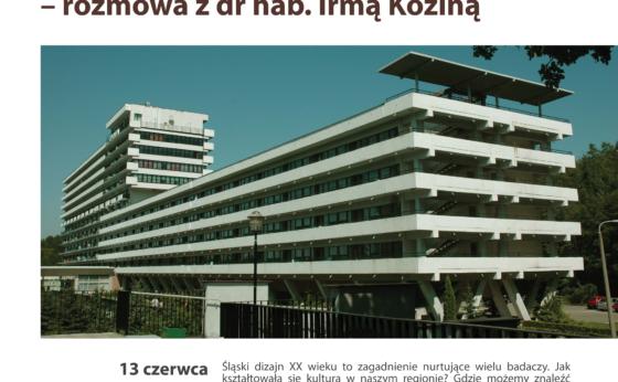 Ikony XX wieku w województwie śląskim – spotkanie z Irmą Koziną