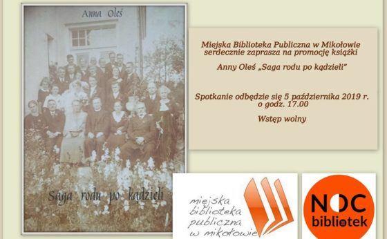 """Promocja książki Anny Oleś """"Saga rodu po kądzieli"""""""