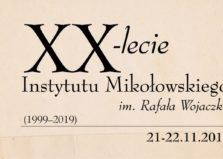 XX-lecie INSTYTUTU MIKOŁOWSKIEGO im. Rafała Wojaczka