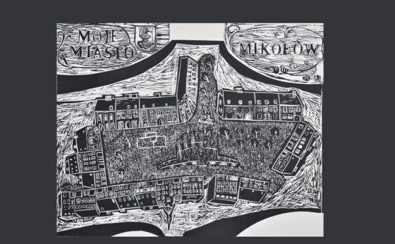 Wernisaż linorytów J. Tyrol: Moja miasto Mikołów
