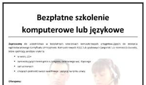 Bezpłatne szkolenia językowe i komputerowe dla mieszkańców Mikołowa