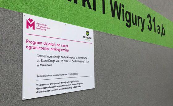 Termomodernizacja budynków przy ul. Rymera 1a, ul. Stara Droga 2a i 2b oraz ul. Żwirki i Wigury 31 a,b w Mikołowie