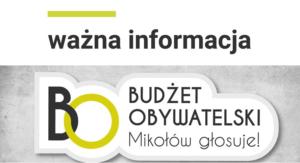 6 edycja Budżetu Obywatelskiego chwilowo w zawieszeniu
