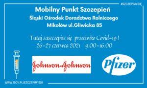 W ten weekend szczepienia w ODR W Śmiłowicach