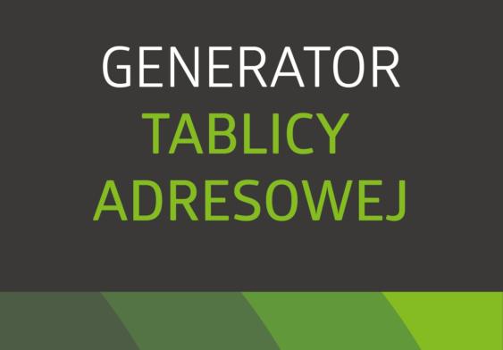 artykuł Generator tablic adresowych - SIM